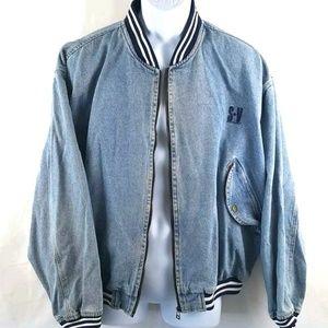 Vintage 80's Oversized baggy jean Jacket Sergio V.